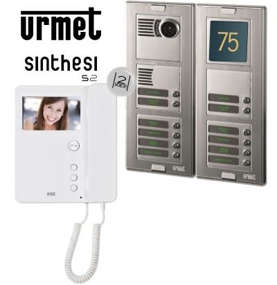Schema Elettrico Urmet 2 Voice : Urmet 1783 704 kit video citofono 12 appartamenti 2 fili monitor mi