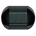 BTICINO - LIVINGLIGHT PLACCA TONDA 3 MODULI SMOKING LNB4803SM