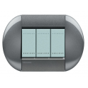 BTICINO - LIVINGLIGHT PLACCA TONDA 3 MODULI TIGHT LNB4803TG