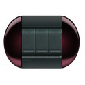 BTICINO - LIVINGLIGHT PLACCA TONDA 3 MODULI TWIN BROWN LNB4803TW