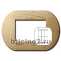 BTICINO - LIVINGLIGHT PLACCA TONDA 3+3 MODULI ACERO LNB4826LAE
