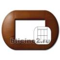 BTICINO - LIVINGLIGHT PLACCA TONDA 3+3 MODULI CILIEGIO LNB4826LCA