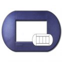BTICINO - LIVINGLIGHT PLACCA TONDA 3+3 MODULI GRAPE LNB4826GP