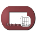 BTICINO - LIVINGLIGHT PLACCA TONDA 3+3 MODULI SUNSET LNB4826SS