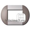 BTICINO - LIVINGLIGHT PLACCA TONDA 3+3 MODULI TWIN BRONZE LNB4826TB
