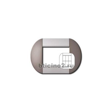 BTICINO - LIVINGLIGHT PLACCA TONDA 3+3 MODULI TWIN BRONZE LNB4826TB LNB4826TB-NO Bticino LivingLight Placche Tonde 10,98 €