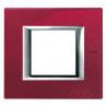 BTICINO - AXOLUTE PLACCA RETTANGOLARE 2 MODULI ROSSO CHINA HA4802RC HA4802RC-NO Bticino Placche Axolute Rettangolari 15,52 €
