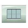 BTICINO - LIVINGLIGHT PLACCA AIR 3 MODULI ARGENTO LUNARE LNC4803GL LNC4803GL-NO Bticino LivingLight Placche Air 16,17 €