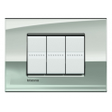 BTICINO - LIVINGLIGHT PLACCA AIR 3 MODULI PALLADIO LNC4803PL