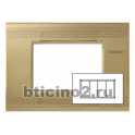 BTICINO - LIVINGLIGHT PLACCA AIR 4 MODULI GREEK LNC4804GK