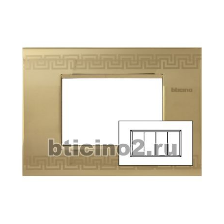 BTICINO - LIVINGLIGHT PLACCA AIR 4 MODULI GREEK LNC4804GK LNC4804GK-NO Bticino LivingLight Placche Air 28,55 €