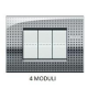 BTICINO - LIVINGLIGHT PLACCA AIR 4 MODULI NET LNC4804NE LNC4804NE-NO Bticino LivingLight Placche Air 28,30 €