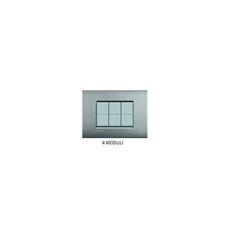 BTICINO - LIVINGLIGHT PLACCA AIR 4 MODULI NICHEL SATINATO LNC4804NK LNC4804NK Bticino LivingLight Placche Air 21,23 €