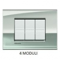 BTICINO - LIVINGLIGHT PLACCA AIR 4 MODULI PALLADIO LNC4804PL