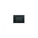 BTICINO - LIVINGLIGHT PLACCA AIR 7 MODULI NERO LAVA LNC4807NL