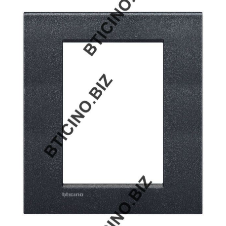 BTICINO - LIVINGLIGHT PLACCA AIR 3+3 MODULI NERO LAVA LNC4826NL LNC4826NL-NO Bticino LivingLight Placche Air 24,23 €