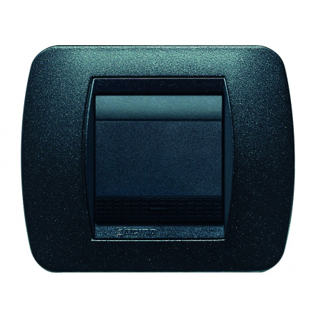 BTICINO - LIVINGLIGHT PLACCA INTERNATIONAL 2 MODULI GRAFITE NERO L4802GFN L4802GFN-NO Bticino LivingLight Placche Internation...