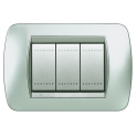BTICINO - LIVINGLIGHT PLACCA INTERNATIONAL 3 MODULI TECH L4803TE