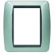 BTICINO - LIVINGLIGHT PLACCA INTERNATIONAL 3+3 MODULI ALLUMINIO L4826AL L4826AL Bticino LivingLight Placche International 18,...