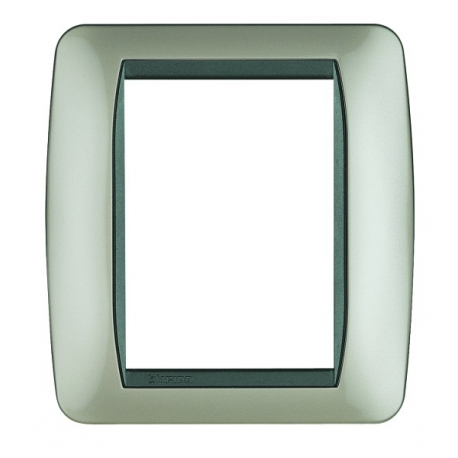 BTICINO - LIVINGLIGHT PLACCA INTERNATIONAL 3+3 MODULI TITANIO CHIARO L4826TC L4826TC Bticino LivingLight Placche Internationa...