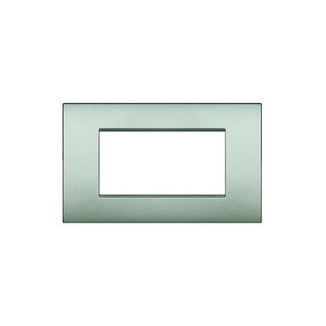 BTICINO - LIVINGLIGHT PLACCA AIR 4 MODULI ARGENTO LUNARE LNC4804GL LNC4804GL Bticino LivingLight Placche Air 16,17 €