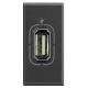 BTICINO AXOLUTE PRESA USB ANTRACITE HS4285 HS4285-NO Frutti Axolute Antracide 15,09 €
