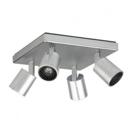 SEET 4-light Faretti LED integrato SEET 345 spot beam brushed alu