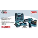 MAKITA HP330DX100 Trapano Avvitatore con percussione HP330DWE + Punte + Valigetta