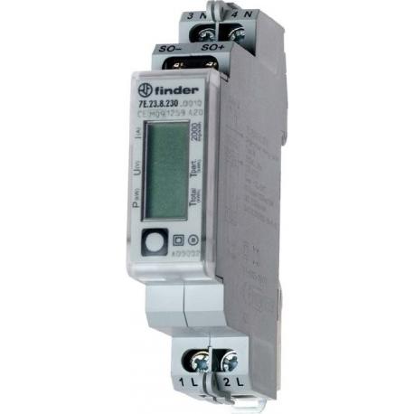 Finder Contatore di energia monofase con display retro illuminato 7E2382300000 7E2382300000 FINDER 49,90 €