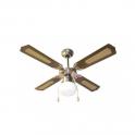 Ventilatore a soffitto colore Marrone con luce diametro 105 cm Melchioni Zephir modello ZFS9107M
