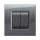 BTICINO - LIVINGLIGHT PLACCA QUADRA 2 MODULI ACCIAIO LNA4802AC LNA4802AC-NO Bticino LivingLight Placche Quadre 9,22 €