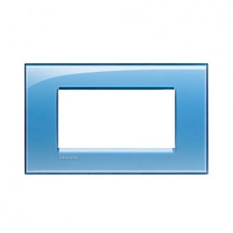 BTICINO - LIVINGLIGHT LNA4804AD PLACCA QUADRA 4 MODULI AZZURRO DEEP LNA4804AD Bticino LivingLight Placche Quadre 7,83 €