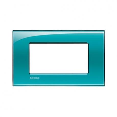 BTICINO - LIVINGLIGHT PLACCA QUADRA 4 MODULI VERDE DEEP LNA4804VD LNA4804VD Bticino LivingLight Placche Quadre 7,83 €