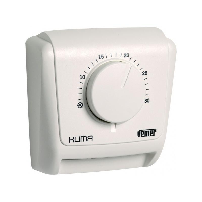 Vemer termostato meccanico da parete ve019600 klima 3 per for Termostato vemer istruzioni