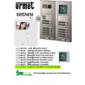 URMET 1783/704 KIT VIDEO CITOFONO 12 APPARTAMENTI 2 FILI MONITOR MIRO' 1750/1