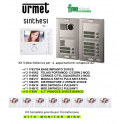 URMET 1783/704 KIT VIDEO CITOFONO OTTO FAMIGLIE 2 FILI MONITOR MIRO' 1750/6