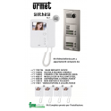 URMET 1783/704 KIT VIDEO CITOFONO QUADRI FAMILIARE 2 FILI MONITOR MIRO' 1750/1