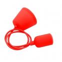 VELAMP PS090-R Sospensioni in silicone per lampade E27 portalampade rosso