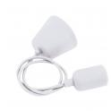VELAMP PS090-W Sospensioni in silicone per lampade E27 portalampade bianco