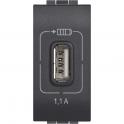 BTICINO LIVINGLIGHT CARICATORE USB L4285C1 5V 1100mA PER TABLET SMARTPHONE