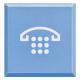 BTICINO - AXOLUTE DIFFUSORE COPRITASTO AZZURRO CON SIMBOLO TELEFONO PER PULSANTE LUMINOSO H4920LH H4920LH-NO Frutti Axolute ...