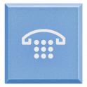 BTICINO - AXOLUTE DIFFUSORE COPRITASTO AZZURRO CON SIMBOLO TELEFONO PER PULSANTE LUMINOSO H4920LH