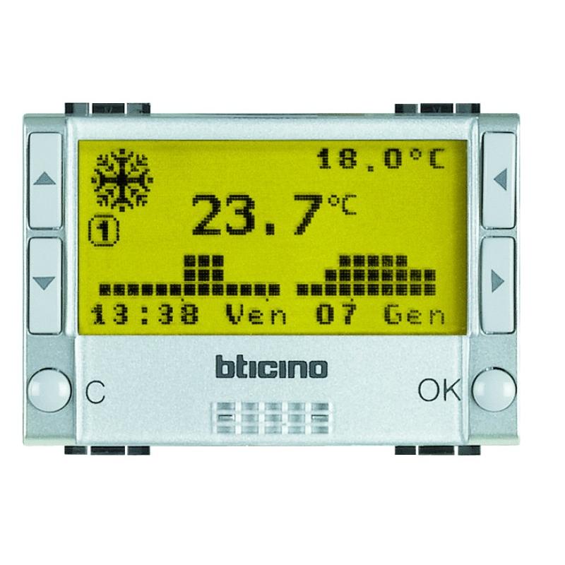 Bticino livinglight termostato ambiente nt4451 per for Termostato living bticino