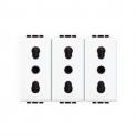 BTICINO - LIVINGLIGHT PRESA 2P+T 16A 250Vac BIPASSO N4180/3
