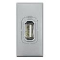 BTICINO AXOLUTE PRESA USB GRIGIO CHIARO HC4285C
