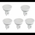 56044 BEGHELLI CONFEZIONE DA 5 LED SPOT ECO 6W 4K GU10 230V