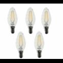 56412 BEGHELLI CONFEZIONE DA 5 LAMPADINE ZAFIRO LED TORTTIGLINE CH 4W E14 2700K