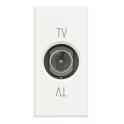 BTICINO AXOLUTE PRESA TV COASSIALE PASSANTE BIANCA HD4202P