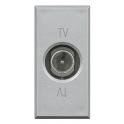BTICINO AXOLUTE PRESA TV COASSIALE PASSANTE GRIGIO CHIARO HC4202P
