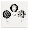 BTICINO AXOLUTE PRESA TV COASSIALE BIANCO HD4210D HD4210D-NO Bticino Frutti Axolute Bianchi 55,40 €